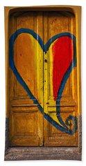 Door With Heart Hand Towel