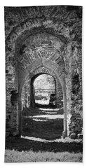 Doors At Ballybeg Priory In Buttevant Ireland Hand Towel