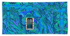 Doorway Into Multi-layers Of Water Art Collage Bath Towel