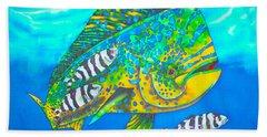 Dorado And Pilot Fish - Mahi Mahi Fish Hand Towel