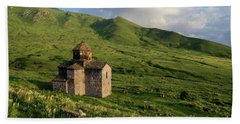 Dorband Monastery In The Field, Armenia Bath Towel