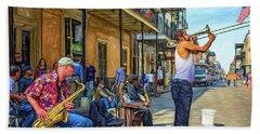 Doreen's Jazz New Orleans - Paint Bath Towel