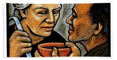 Dorothy Day Feeding The Hungry - Jlddf Hand Towel