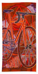 Dosnoventa Houston Flo Orange Bath Towel by Mark Jones