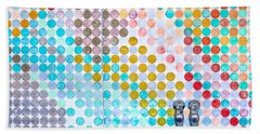 Dots, Many Colored Dots Bath Towel