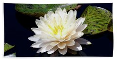 Dotty White Lotus And Lily Pads 0030 Dlw_h_2 Hand Towel