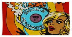 Double Advance - Pinball Bath Towel by Colleen Kammerer