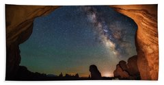 Double Arch Milky Way Views Hand Towel by Darren White