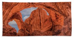 Double Arches At Arches National Park Hand Towel by Penny Lisowski