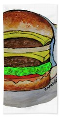 Double Cheeseburger Bath Towel