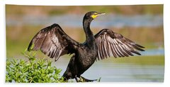 Double-crested Cormorant Bath Towel