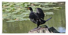Double-crested Cormorant Hand Towel