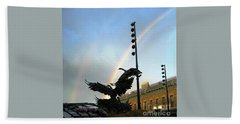 Double Rainbow Over Old Town Square Bath Towel