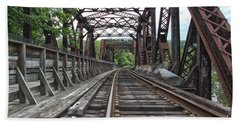Double Truss Bridge #1679 On The Wmsr Hand Towel