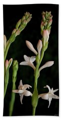 Double Tuberose In Bloom #2 Bath Towel