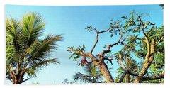 Tree And Blue Sky Hand Towel