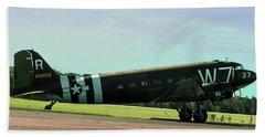 Douglas C-47 Skytrain Military Transport Bath Towel