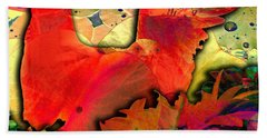 Bath Towel featuring the digital art Dove by Barbara Berney