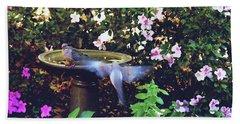 Dove In Flight Hand Towel by Debra Crank