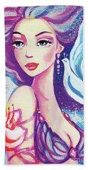 Dove Mermaid Hand Towel