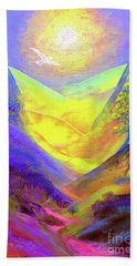 Hand Towel featuring the painting Dove Valley by Jane Small