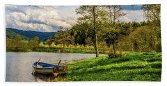 Bath Towel featuring the photograph Down By The Lake  by David Dehner