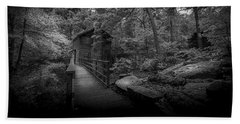 Down By The Mill-bw Bath Towel