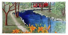 Down By The River Hand Towel