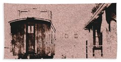 Down By The Station Hand Towel by Aliceann Carlton