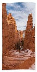 Down Navajo Rim Trail Hand Towel