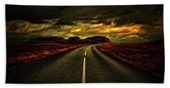 Hand Towel featuring the photograph Down The Road by Scott Mahon