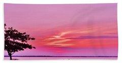 Summer Sunset At The Shore Bath Towel