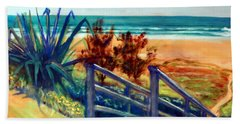 Down The Stairs To The Beach Hand Towel by Winsome Gunning