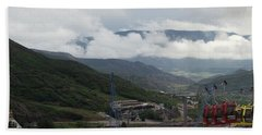 Bath Towel featuring the photograph Down The Valley At Snowmass #3 by Jerry Battle