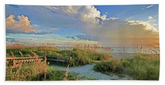 Down To The Beach 2 - Florida Beaches Hand Towel by HH Photography of Florida