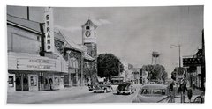 Downtown Alma, Michigan, Circa 1949 Hand Towel