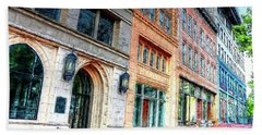 Downtown Asheville City Street Scene II Painted Hand Towel