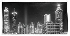 Downtown Atlanta Skyline Bath Towel
