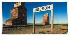 Downtown Hobson, Montana Hand Towel