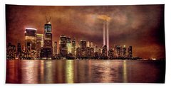 Downtown Manhattan September Eleventh Bath Towel