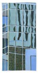 Downtown Reflections Bath Towel by Alika Kumar