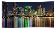 Downtown San Diego Hand Towel by Eddie Yerkish