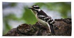 Downy Woodpecker Hand Towel