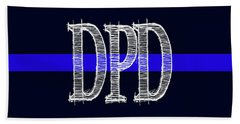Dpd Blue Line Mug Hand Towel by Robert J Sadler