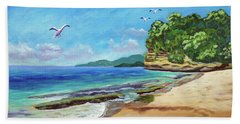 Dr. Grooms Beach, Grenada Bath Towel