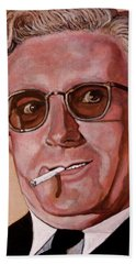 Hand Towel featuring the painting Dr Strangelove 2 by Tom Roderick
