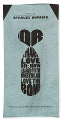Hand Towel featuring the digital art Dr. Strangelove Or How I Learned To Stop Worrying And Love The Bomb by Ayse Deniz