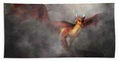 Bath Towel featuring the digital art Draco by Daniel Eskridge