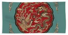 Dragon And Phoenix Bath Towel
