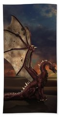 Dragon At Sunset Bath Towel
